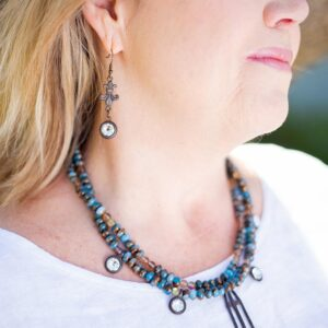 Anna Necklace on Model